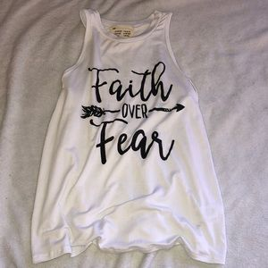 French Pastry Faith Over Fear Tank Top